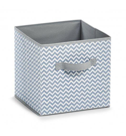 ZELLER Składane pudełko do przechowywania 26 x 26 cm / biało - szary