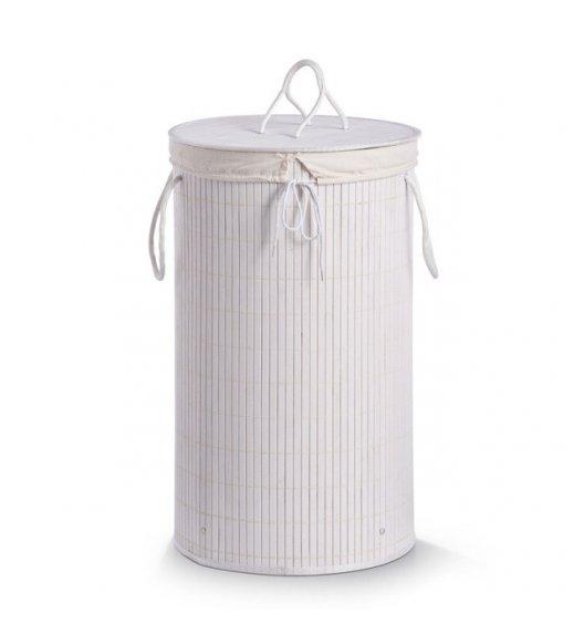 ZELLER Kosz na pranie z wyjmowanym wkładem 35 x 60 cm / biały / bambus