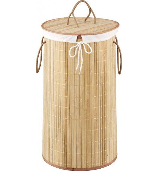 ZELLER Kosz na pranie z wyjmowanym wkładem 35 x 60 cm / drewno bambusowe