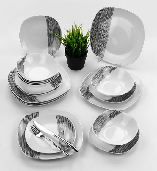 TADAR HOSTE Serwis obiadowy 18 elementów dla 6 osób / ceramika