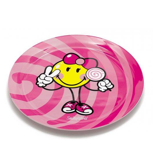 WYPRZEDAŻ! ŻAK! DESIGNS SMILEY KID Talerzyk z melaminy dla dziewczynki / różowy /Btrzy