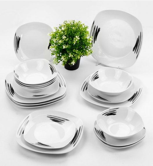 TADAR PINTURA  Serwis obiadowy 18 elementów dla 6 osób / ceramika