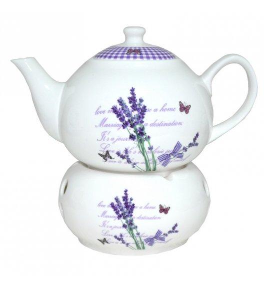 TADAR LAVANDA Dzbanek z podgrzewaczem 1l / porcelana Bon China