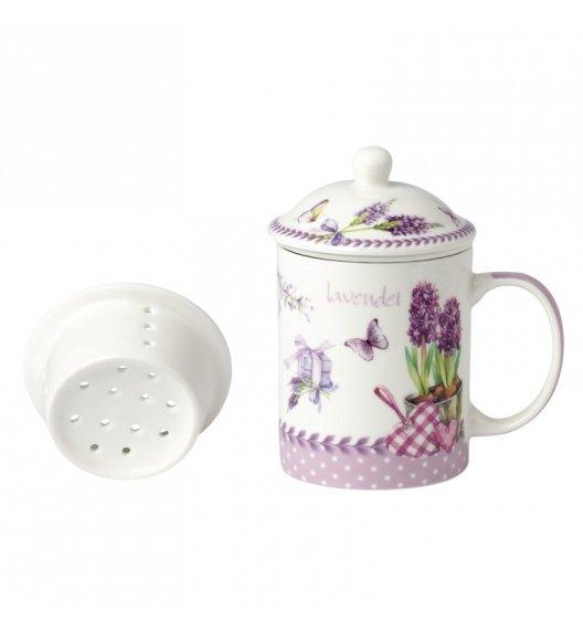 TADAR LAVANDA Kubek z zaparzaczem 330 ml / porcelana Bon China