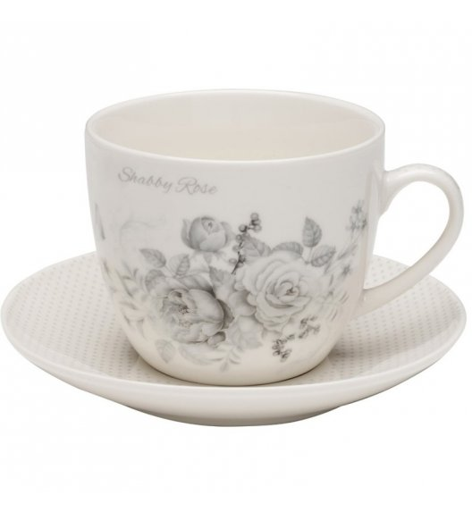 TADAR SHABBY ROSE Komplet 2 filiżanek 250 ml ze spodkiem / porcelana Bon China