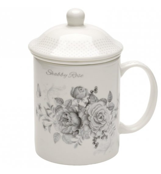 TADAR SHABBY ROSE Kubek z zaparzaczem 330 ml / porcelana Bon China