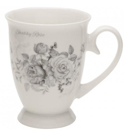 TADAR SHABBY ROSE Kubek 320 ml na nóżce / porcelana Bon China