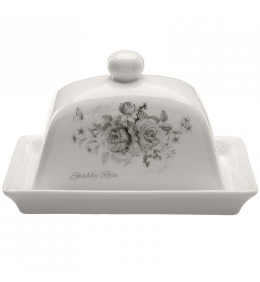 TADAR SHABBY ROSE Maselnica + pokrywka / 2 el / porcelana Bone China