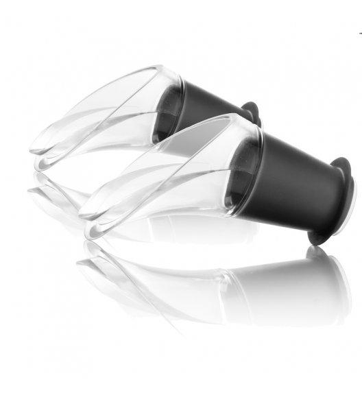 VACU VIN Komplet nalewaki do wina Crystal Black 2 szt./ tworzywo sztuczne / LENA
