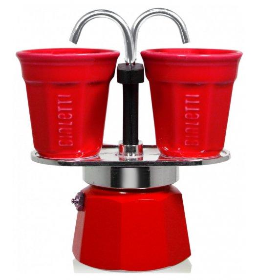 BIALETTI MINI EXPRESS Kawiarka 2 TZ czerwona + 2 filiżanki 90 ml / scapol