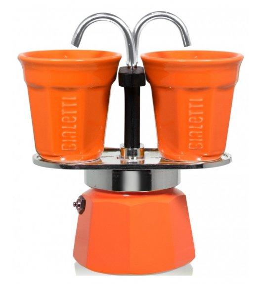 BIALETTI MINI EXPRESS Kawiarka 2 TZ pomarańczowa + 2 filiżanki 90 ml / scapol