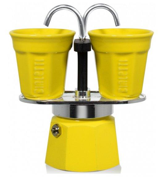 BIALETTI MINI EXPRESS Kawiarka 2 TZ żółta + 2 filiżanki 90 ml / scapol