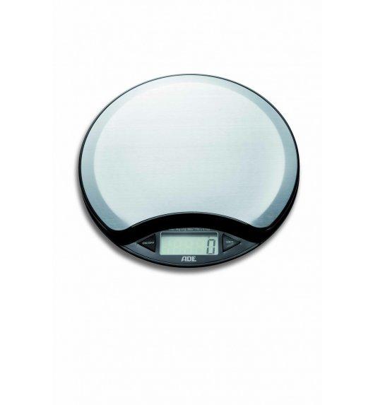 ADE Waga kuchenna z termometrem ø16,5 cm / stal nierdzewna / FreeForm