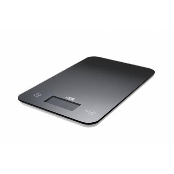 ADE SLIM Waga kuchenna czarna 15 x 23 cm / szkło / FreeForm