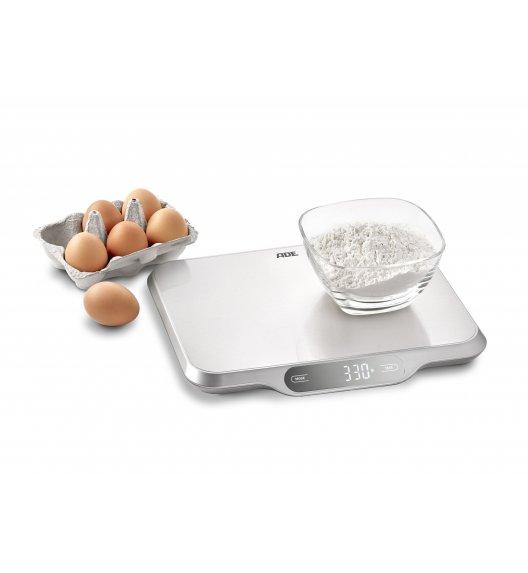 ADE LADINA Duża waga kuchenna srebrna 31 x 26,5 cm / stal nierdzewna / FreeForm