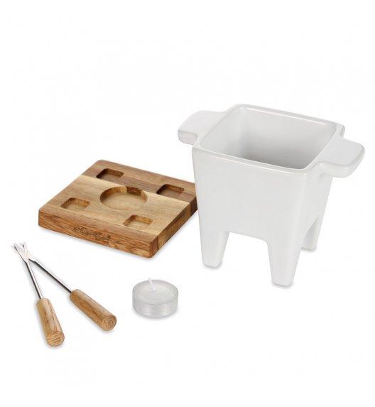 BOSKA Zestaw tapas fondue 200 ml / ceramika + drewno dębowe / LENA