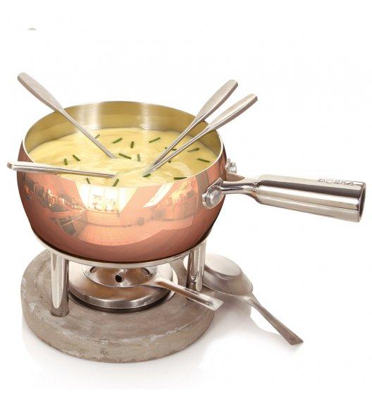 BOSKA Zestaw fondue 1 l / stal nierdzewna + miedź / LENA