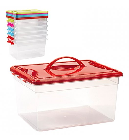 TADAR MANTENERE Pudełko z pokrywą 12 l / wygodny uchwyt / mix kolorów