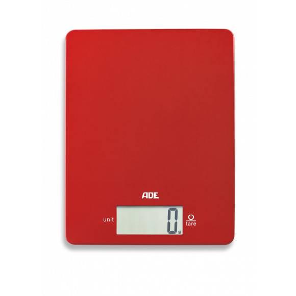 ADE LEONIE Waga kuchenna 17 x 22 cm / czerwona / tworzywo sztuczne  / FreeForm