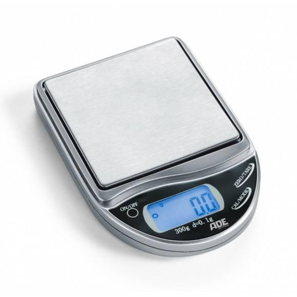 ADE Kieszonkowa waga elektroniczna 7 x 10 x 1,6 cm / stal nierdzewna / FreeForm