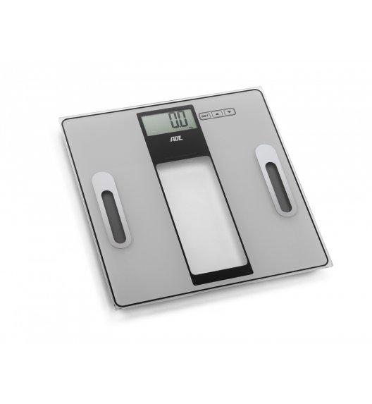 ADE TABEA Waga łazienkowa z analizą masy ciała 30 x 30 cm / szkło / metaliczna / FreeForm