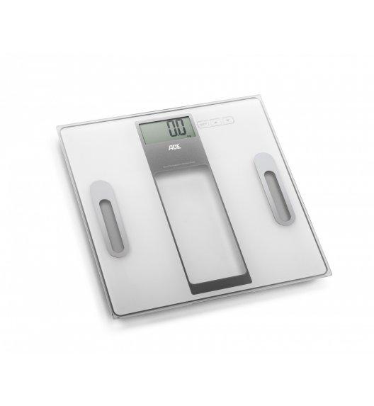 ADE TABEA Waga łazienkowa z analizą masy ciała 30 x 30 cm / szkło / biała / FreeForm