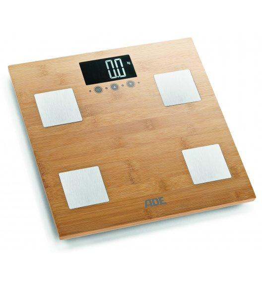 ADE BARBARA Waga łazienkowa z analizą masy ciała / 30 x 30 cm / bambus / brązowa / FreeForm
