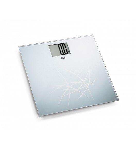 ADE LOTTA Waga łazienkowa 30 x 30 cm / szkło / metaliczna / FreeForm