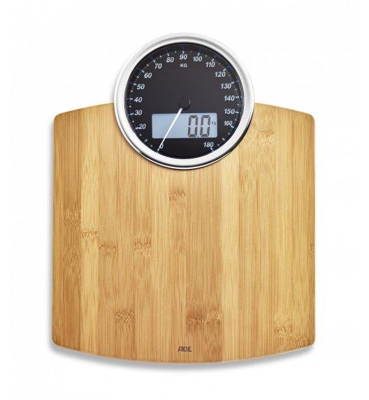 ADE LUNA Waga łazienkowa 31,5 x 40,5 cm / drewno bambusowe / FreeForm