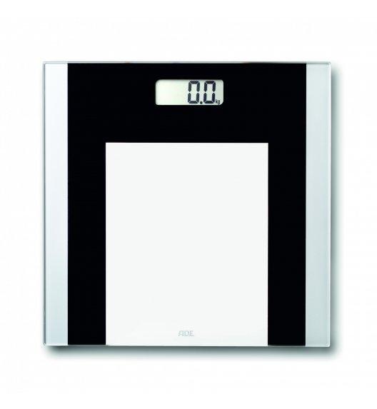 ADE YLVIE Waga łazienkowa 30 x 30 cm / czarno - biała / szkło / FreeForm