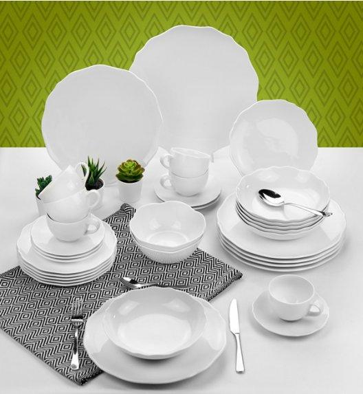KAROLINA LIVE Serwis obiadowo - kawowy 33 elementy dla 6 osób / Porcelana