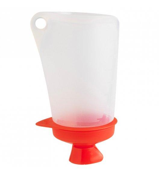 MASTRAD Pojemnik do dekorowania 400 ml z 10 wymiennymi końcówkami / czerwony / LENA