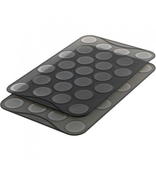 MASTRAD Zestaw 2 silikonowych mat do makaroników / 25 ciasteczek / LENA
