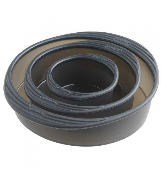MASTRAD Okrągła forma do ciasta 3 części / tworzywo sztuczne / szary / LENA