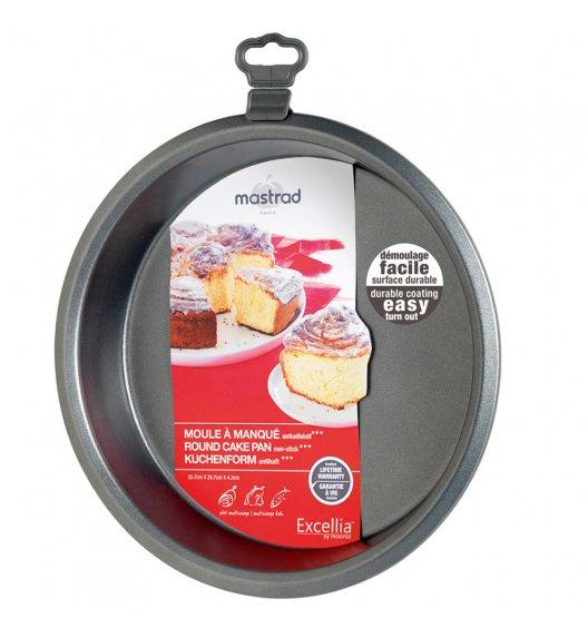 MASTRAD Okrągła forma do ciasta 26 cm / metal / ciemnoszara / LENA