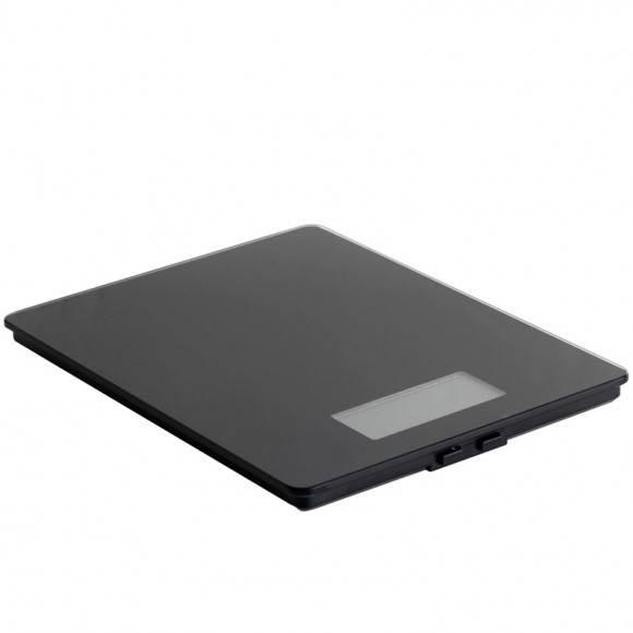 MASTRAD Elektroniczna waga kuchenna / czarna / szkło / LENA