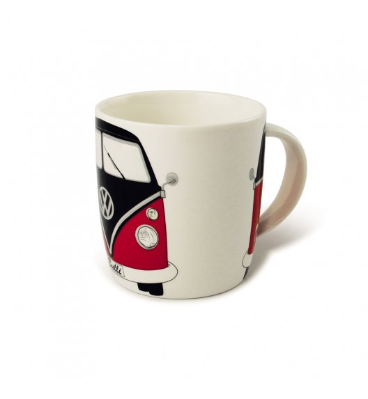 VW Collection BRISA Kubek Bus Red Black 370 ml / porcelana / LENA