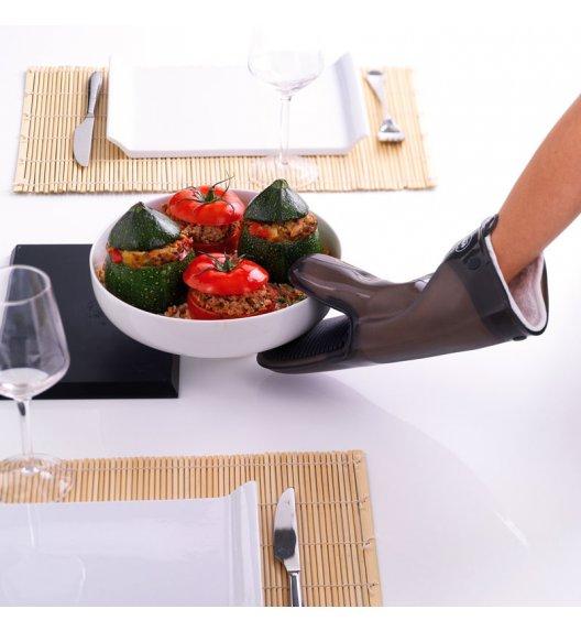 MASTRAD Rękawica kuchenna z bawełnianą wkładką / silikon / grafitowa / LENA