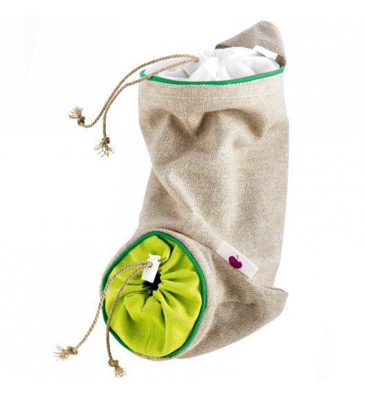 MASTRAD Torba do przechowywania czosnku 24 cm / len / zielony / LENA