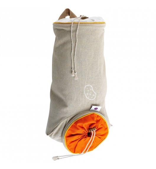 MASTRAD Torba do przechowywania ziemniaków 36,5 cm / len / pomarańczowa / LENA