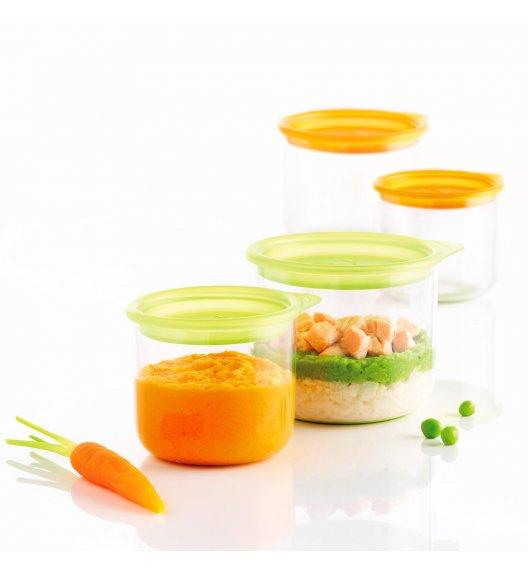 MASTRAD Zestaw 4 pojemników na posiłki dla dziecka / transparentny / tworzywo sztuczne / LENA