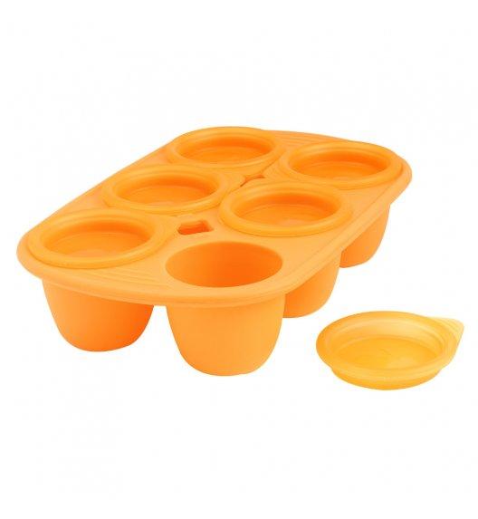 MASTRAD Forma z 6 wgłębieniami na posiłki dla dziecka 60 ml / pomarańczowa / tworzywo sztuczne / LENA
