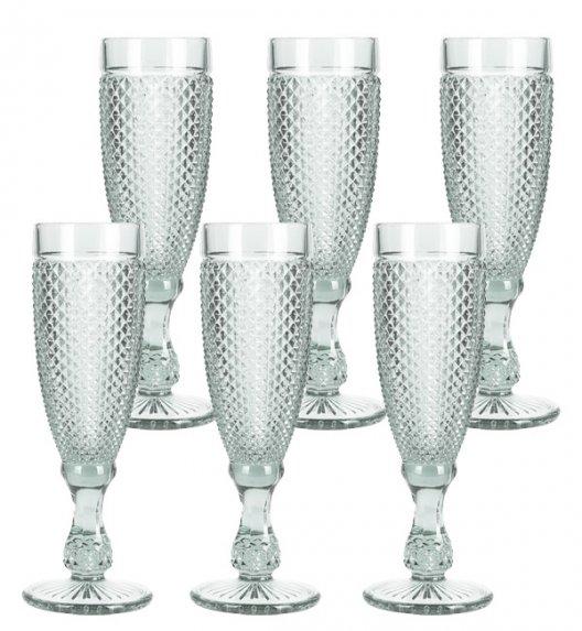 WYPRZEDAŻ! HOME&STYLING COLLECTION Komplet 6 kieliszków do szampana 170 ml / imitacja kryształu / Koopman