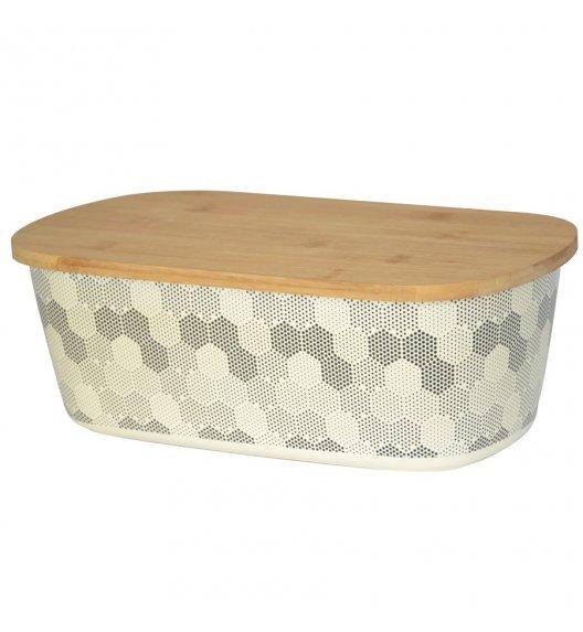 TADAR HEXAGON Chlebak z deską 35 cm / 2w1 / drewno bambusowe