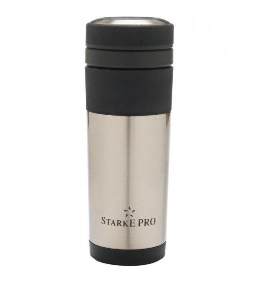 STARKE TRAVELER Kubek termiczny 400 ml + sitko / stal nierdzewna