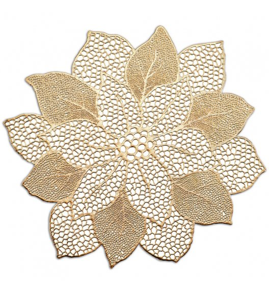 WYPRZEDAŻ! ZELLER FLOWER Podkładka na stół 49x47 cm złota / PVC