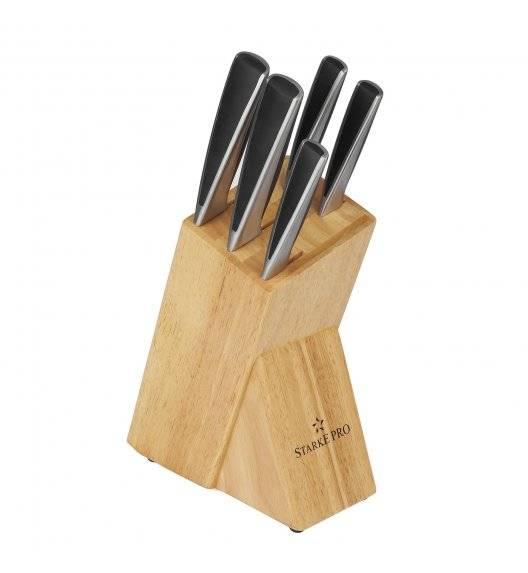 STARKE PRO HARUNA Komplet noży kuchennych w bloku 6 el. / drewno kauczukowe / niemiecka jakość