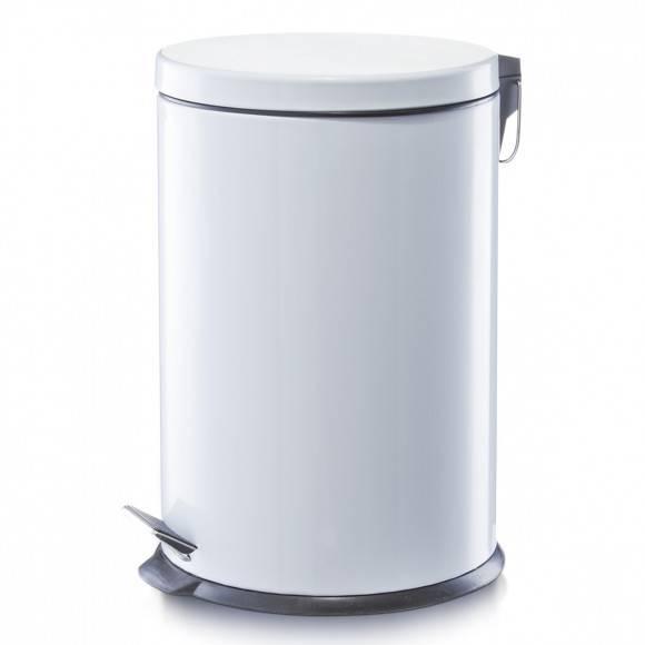 WYPRZEDAŻ! ZELLER Kosz łazienkowy 20 l / biały / metal