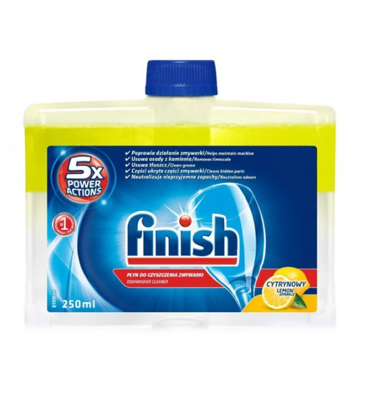 FINISH Płyn do czyszczenia zmywarek 250 ml / podwójna formuła / Lemon