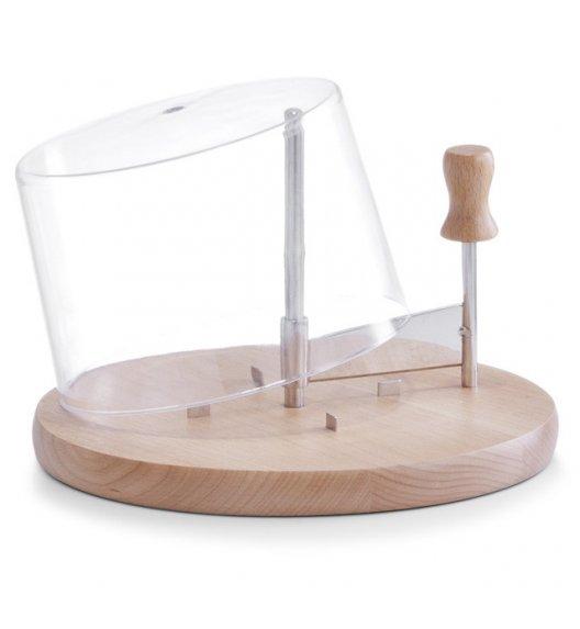 WYPRZEDAŻ! ZELLER Deska z nożem obrotowym do twardego sera + pokrywka Ø22,5 cm / drewno bukowe